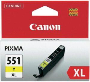 Canon CLI-551XL Y, 685 stran - originální žlutá (6446B001)