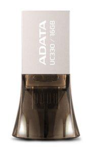 ADATA UC330 16GB OTG MicroUSB/USB 2.0 hnědý (AUC330-16G-RBK)