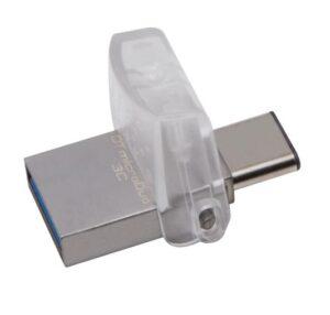 Kingston DataTraveler MicroDuo 3C 32GB OTG USB-C/USB 3.1 stříbrný (DTDUO3C/32GB)
