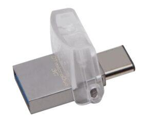 Kingston DataTraveler MicroDuo 3C 64GB OTG USB-C/USB 3.1 stříbrný (DTDUO3C/64GB)