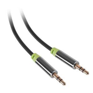 GoGEN Jack 3,5mm, 3m, pozlacené konektory černý (GOGJACK300MM01)