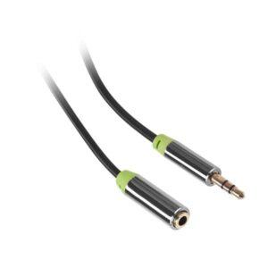 GoGEN Jack 3,5mm,  2,5m, prodlužovací, pozlacené konektory černý (GOGJACK250FM01)