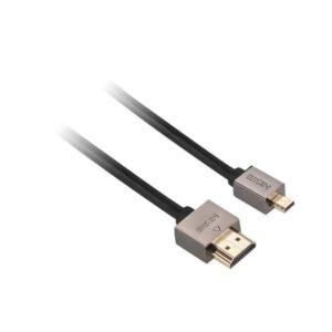 GoGEN HDMI / HDMI micro, 1,5m, v1.4, pozlacený, High speed, s ethernetem černý (GOGMICHDMI150MM01)