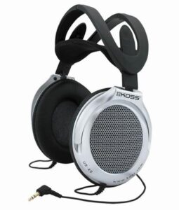 Koss UR 40 (doživotní záruka) černá/stříbrná