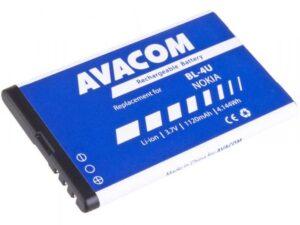 Avacom pro Nokia 5530, CK300, E66, 5530, E75, 5730, Li-Ion 1120mAh (náhrada BL-4U) (GSNO-BL4U-S1120A)