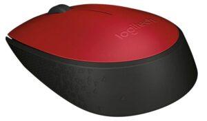 Logitech Wireless Mouse M171 červená / optická / 2 tlačítka / 1000dpi (910-004641)