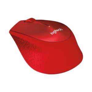 Logitech Wireless Mouse M330 Silent Plus červená / optická / 3 tlačítka / 1000dpi (910-004911)