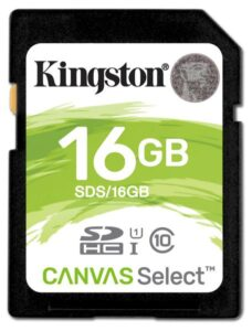 Kingston Canvas Select SDHC 16GB UHS-I U1 (80R/10W) (SDS/16GB)
