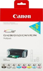 Canon CLI-42 Multi Pack - originální černá/šedá/červená/modrá/žlutá (6384B010)