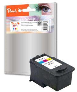 Peach Canon CL-511,385 stran, kompatibilní červená/modrá/žlutá (314480)