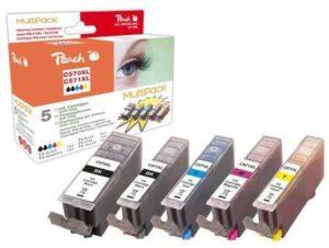 Peach Canon PGI-570XL/CLI-571XL, 975 stran, kompatibilní černá/červená/modrá/žlutá (319855)