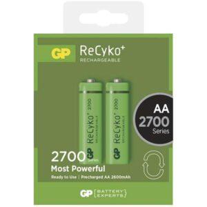 GP ReCyko+ AA, HR06, 2700mAh, Ni-MH, krabička 2ks (1032212130)