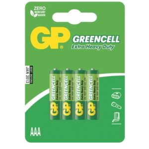 Baterie zinkochloridová GP Greencell AAA