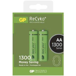 GP ReCyko+ AA, HR06, 1300mAh, Ni-MH, krabička 2ks (1032212010)