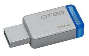 Kingston DataTraveler 50 64GB modrý/kovový (DT50/64GB)