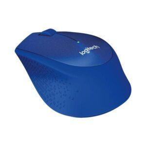 Logitech Wireless Mouse M330 Silent Plus modrá / optická / 3 tlačítka / 1000dpi (910-004910)