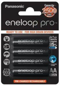 Panasonic Eneloop Pro AA, HR06, 2500mAh, Ni-MH, blistr 4ks (BK-3HCDE/4BE)