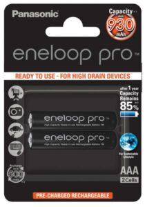 Panasonic Eneloop Pro AAA, HR03, 930mAh, Ni-MH, blistr 2ks (BK-4HCDE/2BE)