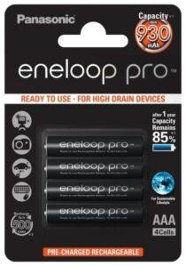 Panasonic Eneloop Pro AAA, HR03, 930mAh, Ni-MH, blistr 4ks (BK-4HCDE/4BE)