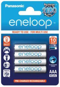 Panasonic Eneloop AAA, HR03, 750mAh, Ni-MH, blistr 4ks (BK-4MCCE/4BE)