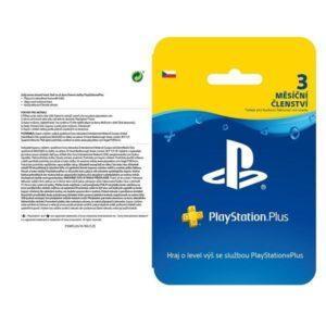 Sony PlayStation Plus Card 90 dní - pouze pro CZ PS Store (PS719810742)