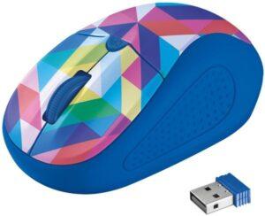 Trust Primo Wireless - blue geometry  / optická / 4 tlačítka / 1600dpi (21480)