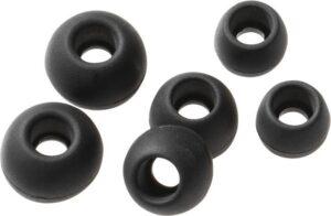 Vivanco silikonové pady pro mikrosluchátka, 6ks černé
