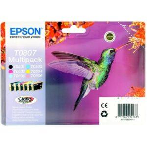 Epson T0807 - originální černá/červená/modrá/žlutá (C13T08074011)