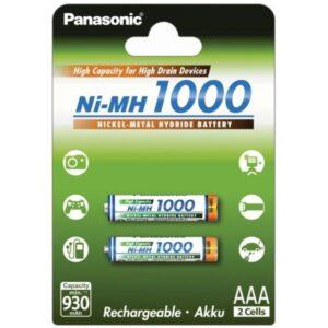 Panasonic AAA, HR03, 1000mAh, Ni-MH, blistr 2ks (359779)
