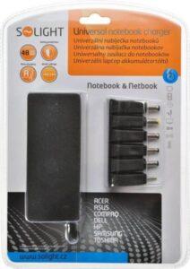 Solight DA32 univerzální pro notebooky/netbooky, 48W, 6 koncovek, automat (268448)