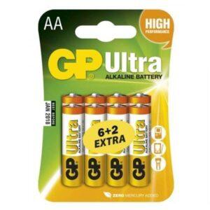 GP Ultra AA, LR06, blistr 6+2 ks