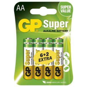 GP Super AA, LR06, blistr 6+2ks