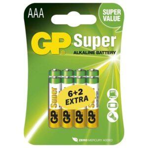 GP Super AAA, LR03, blistr 6+2ks (B13118)