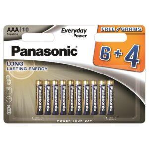 Panasonic Everyday Power AAA, LR03, blistr 6 + 4ks (408595)