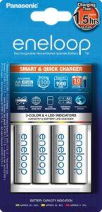 Panasonic Eneloop Smart-Quick Charger pro AA,AAA + 4x Panasonic Eneloop 1900mAh bílá (K-KJ55MCC40E)