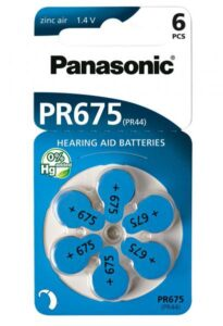 Baterie do naslouchadel Panasonic PR675
