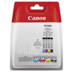Canon CLI-571 C/M/Y/BK černá/červená/modrá/žlutá (0386C005)