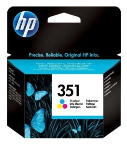 HP No. 351, 3,5 ml - originální červená/modrá/žlutá (CB337EE)