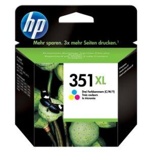 HP No. 351XL, 14 ml - originální červená/modrá/žlutá (CB338EE)