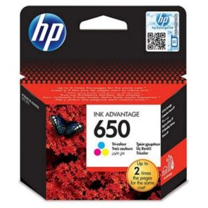 HP No. 650, 200 stran - originální červená/modrá/žlutá (CZ102AE#BHK)