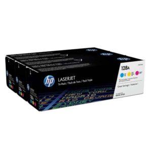 HP 128A, 3x1300 stran, CMY (CF371AM)
