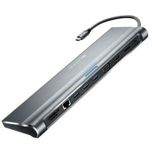 Canyon USB-C/USB3.0 + HDMI + VGA + DVI + RJ45 + 3,5mm Jack šedá (CNS-HDS09DG)
