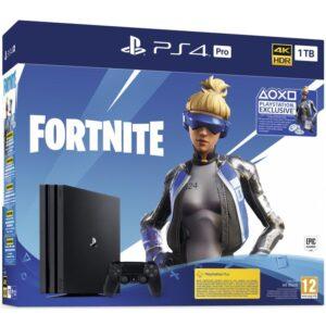 Sony PlayStation 4 Pro 1 TB + Fortnite balíček 2000 V Bucks černá (PS719941101)