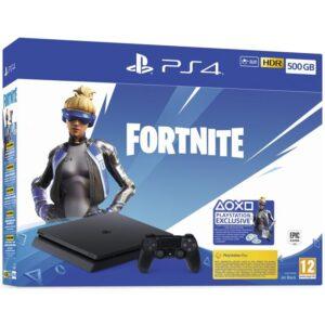 Sony PlayStation 4 500 GB + Fortnite balíček 2000 V Bucks černá (PS719940104)