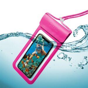 """Celly Splash Bag voděodolné na 6,5"""" růžové (SPLASHBAG19PK)"""