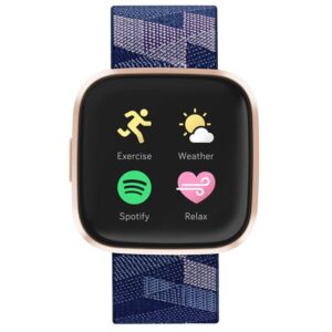 Fitbit Versa 2 Special Edition (NFC) - Navy & Pink Woven (FB507RGNV)