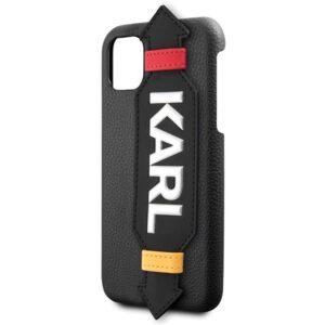 Karl Lagerfeld Strap na Apple iPhone 11 Pro Max černý (KLHCN65HDAWBK)