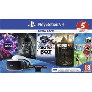 Sony PlayStation VR + kamera + 5 her (VR Worlds, Skyrim, Resident Evil 7, Everybodys Golf, Astrobot) (PS719999102)