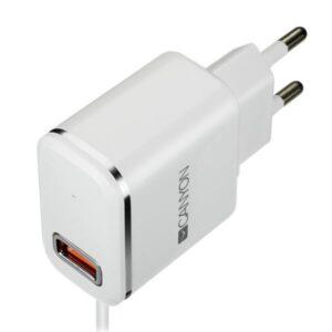 Canyon 1x USB, Lightning kabel 1m bílá (CNE-CHA043WS)