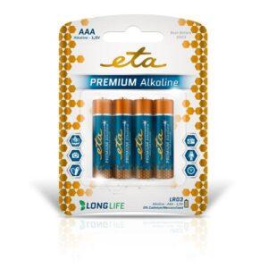 ETA PREMIUM ALKALINE AAA, LR03, blistr 4ks (R03PREM4)